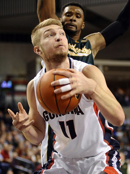 Arvydas' son Domantas has been a revelation for the Zags as a rookie this season. (USA Today Photo/James Snook)
