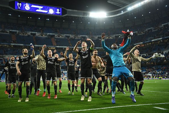 Ajax celebration Real Madrid