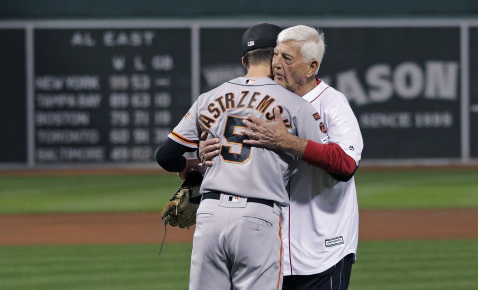 "alt = ""image of carl yastrzemski and mike yastrzemski"""